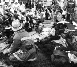 Gas  attack at Japan subway
