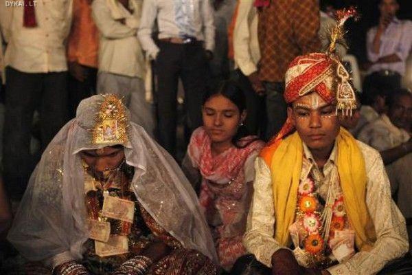 Vaikų vestuvės Indijoje
