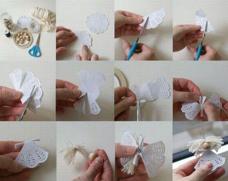 Новогодние украшения для детей своими руками фото
