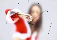 Nuostabus Kalėdinis- Naujametinis laikrodis (flash)
