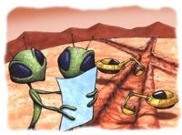 tekstai: Gyvybės spora į Žemę papuolė iš Marso?