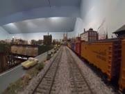 3. Penkiolika metų statytas geležinkelio modelis