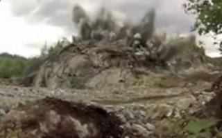 4. Galingas uolos sprogdinimas