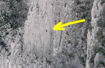 4. 500 metrų uola įveikta be saugumo priemonių